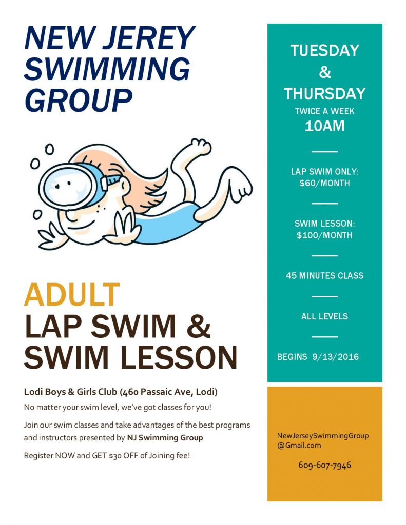 Adults Swim Classes 2016